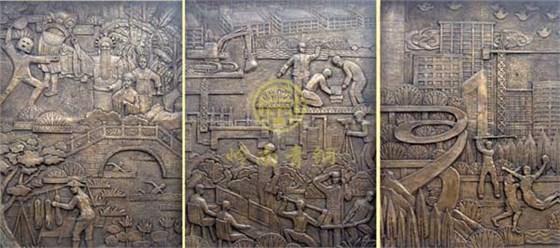 岭南青铜公司铜浮雕作品欣赏 东莞铜浮雕工程
