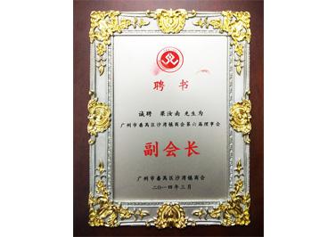 岭南青铜荣誉:番禺区沙湾镇商会第六届理事会副会长