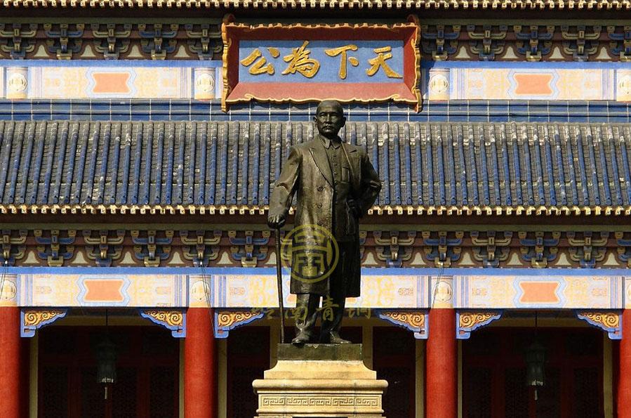广州中山纪念堂孙中山铜像工程(高5.6米)