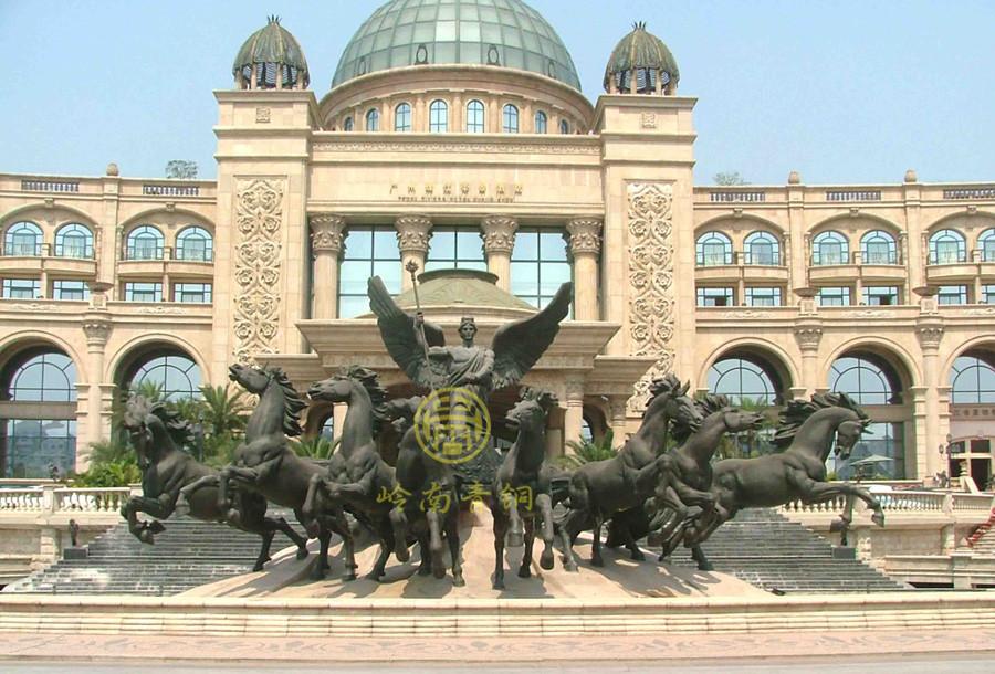 广州帝景苑房地产铜雕塑