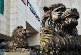 铜狮子厂家固定合作企业-广发银行