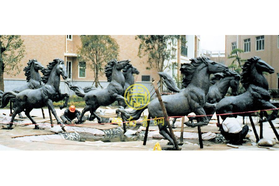 长沙《八骏马》铜马雕塑