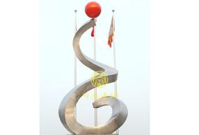 广州欧派公司《追求完美》不锈钢雕塑工程