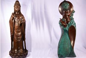 青铜工艺品-滴水观音