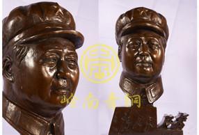 青铜工艺品-毛泽东头像