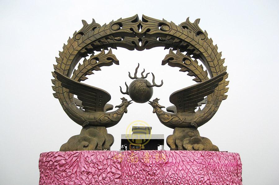 广东省清远市御金街《凤凰台》城市广场雕塑工程