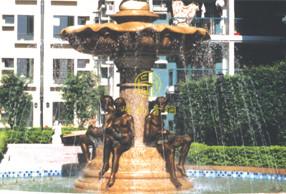 喷水池-房地产景观铜雕塑工程