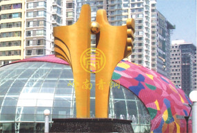 《环珠》不锈钢雕塑-北京富力城
