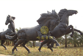 广东中山火炬开发区《铜马》动物雕塑工程