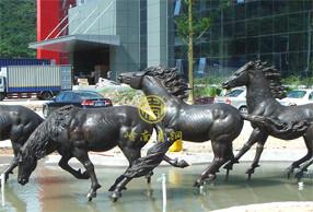 广东中山《野马》房地产雕塑动物雕塑工程