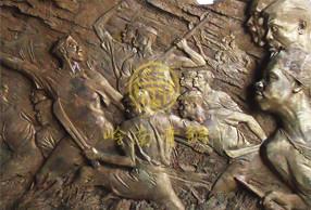 南非《为国》铜浮雕