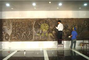 广东药学院《医药的发展》校园铜浮雕工程