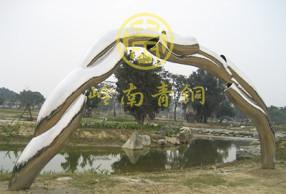 台湾 《拱门》不锈钢城市雕塑