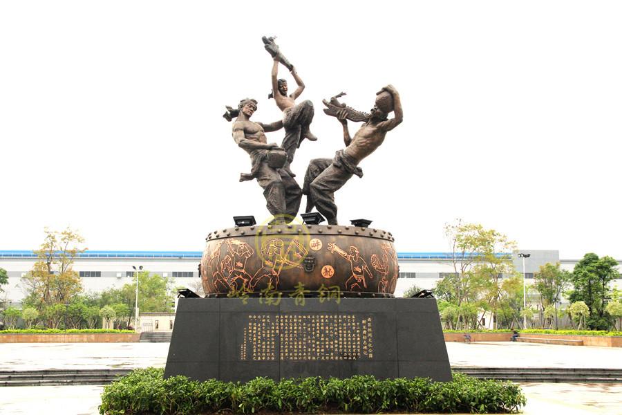 《醉龙》城市铜雕塑(8米)-中山政府