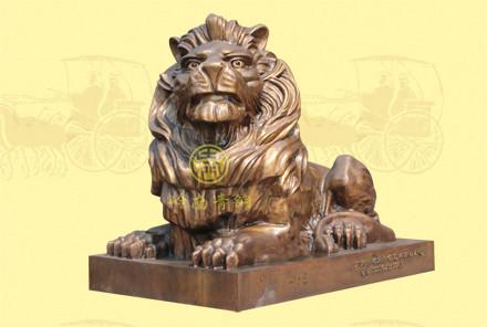 汇丰铜狮子(1号)长1.5米,宽0.7米,高1.08米