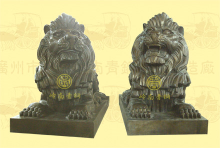 汇丰铜狮子(3号)长2.13米,宽1米,高1.48米