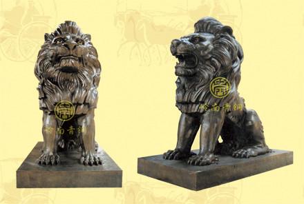 雄狮(1号)长1.8米,宽1米,高1.8米-铜狮子厂家直销
