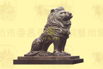 雄狮(2号)长2.48米,宽1.18米,高2.38米-铜狮子厂家直销