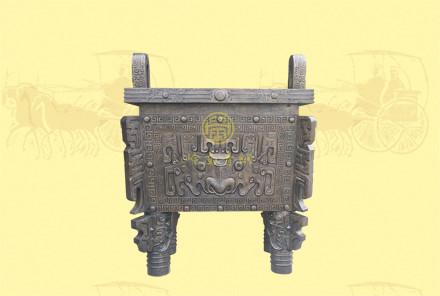 铜方鼎2(长1.14米,宽1.04,高1.729米)-可定制