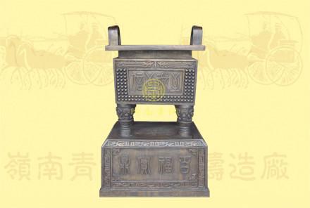 铜方鼎4(长0.8米,宽0.6米,高1.35米)-有现货