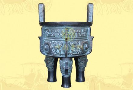 铜圆鼎2(口径0.19米-0.55米,高0.29米-0.84米)-有现货