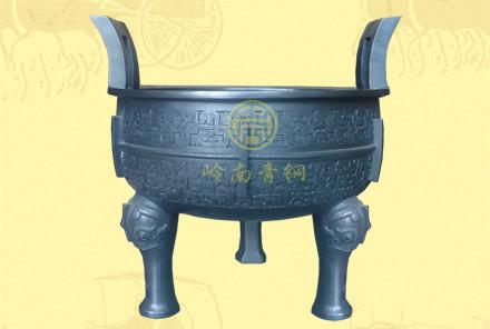 铜圆鼎7(口径0.32米,高0.33米)-有现货