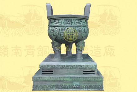铜圆鼎12(口径1.2米,高1.68米,底座0.62米)-可定制