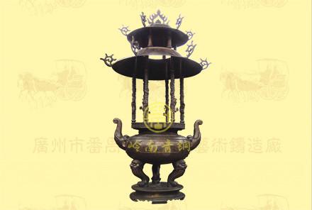 双层盖圆香炉1