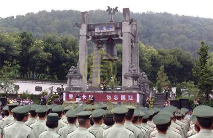 云南《勿忘国耻》城市纪念铜钟(高3.99m)