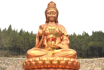 观音铜佛像