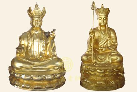 印度尼西亚贴金铜佛像(3米)