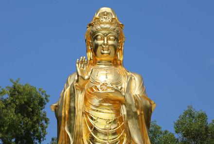 中山阜沙贴金观音巨型佛像(12米)