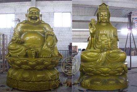 辽宁灵山寺贴金铜佛像(5-6米)