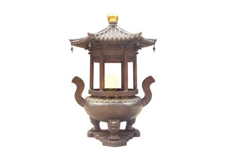 现货:单层盖圆香炉(高2.8米,口径1.08米)