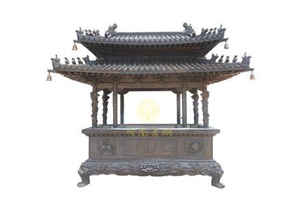现货:双层盖长方香炉(高3.3米,长2.8米,宽1.3米)