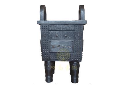 现货:铜鼎15(高77cm,长44cm,宽38cm)