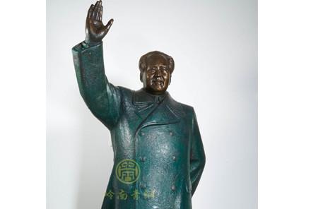 现货:毛泽东挥手铜像(高1.7米;高1.2米)