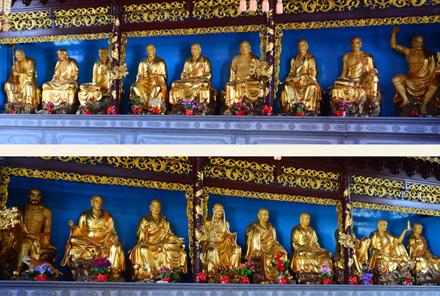 十八罗汉铜佛像