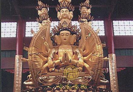 四面观音铜佛像