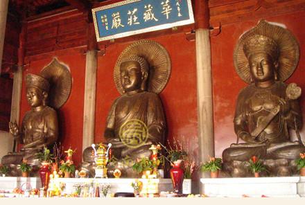 花都华严禅寺华严三圣铜佛像(5米)
