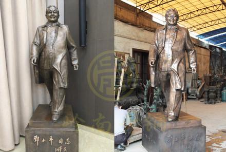伟人邓小平全身铜像定制(高2.4米)