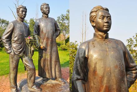 湖南长沙橘子洲公园【革命伟人铜像】工程