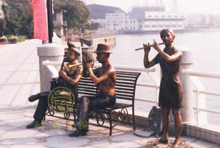 【房地产人物铜像群】-广州富力地产