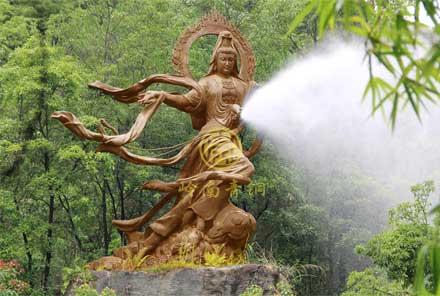 梅州客天下文化园园林雕塑
