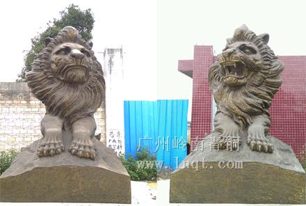 银行铜狮子(特大号)长4.1米,宽1.83米,高2.83米-招行定制同款
