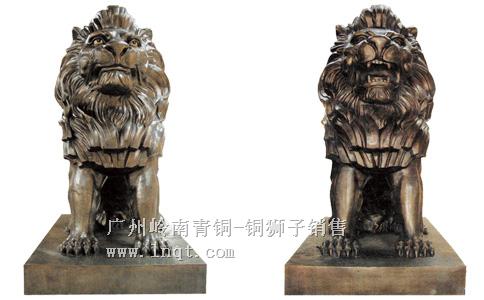 雄立狮-银行企业家用镇宅门口狮子(1.8-2.48米长)