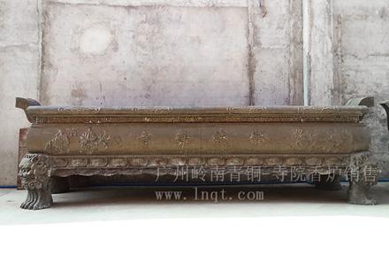 寺院香炉-长方形四足(3.8米长现货),可定制
