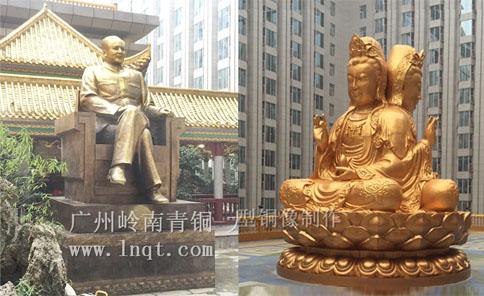 湖南长沙万家丽大型铜像雕塑工程