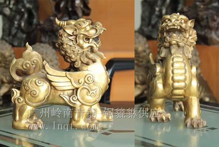 现货:铜貔貅(高0.21cm-0.26cm)辟邪招财开运